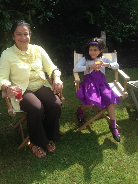 Lucinda D'Souza & daughter Ilena