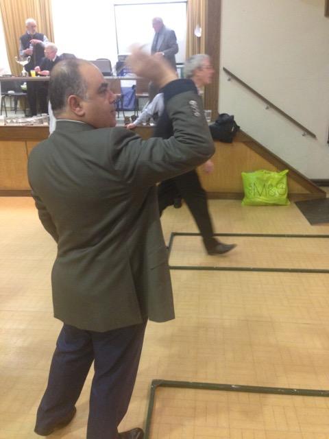 Nader throwing dart