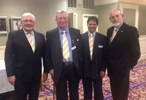 Terry, William, Mathew & Noel at Reigate Treasurers' Night