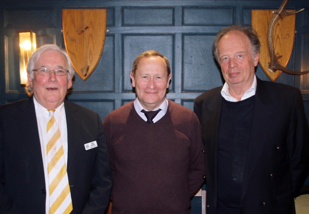 Pictured here, new Brother John Neligan with President Terry and Membership Officer Charles