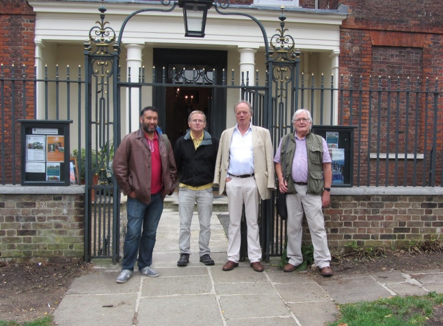 Matt, Steve, Charles and Terry at Fenton HOuse