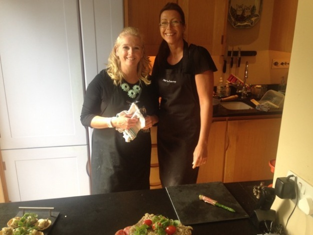 Carol and Susanna, who served up our scrumptious food