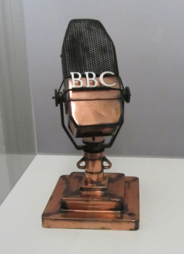 a picture of an archaic microphone