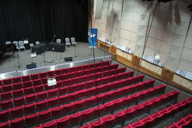 a view into the radio theatre