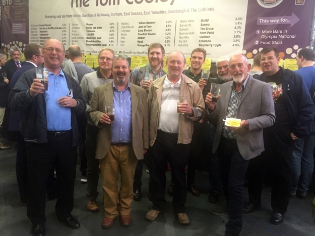 a group of brothers and friends at the beer festival