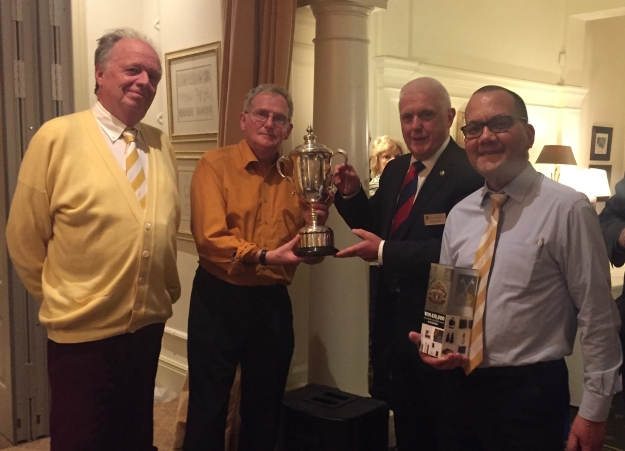catenians pictured with the Quiz Night trophy