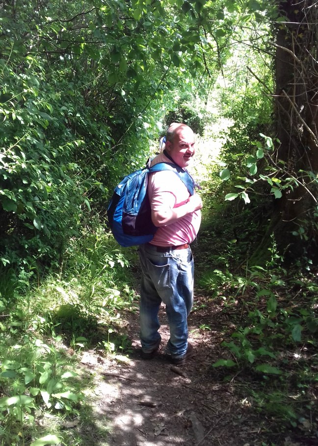 Brother Don on a verdant pathway
